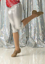 Silver Jazz Capri Pants Only Dance Costume Accessory Tap New FIRE & ICE CXS-AL