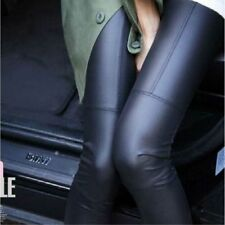 Fashion Women Faux Leather Skinny Stretch High Waisted Tight Pants Leggings