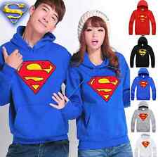 New Fashion Man Women Superman Mark Lovers Hoodie Top Couple Coat with Hat T109