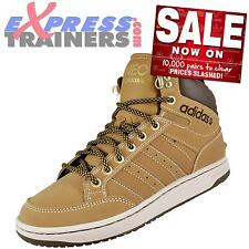 Adidas Mens BBNeo Hoops Mid Premium Leather Boots Wheat * AUTHENTIC *