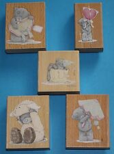 NEW Docrafts Me to You Tatty Teddy Rubber Stamps -Valentines, Easter, Birthday