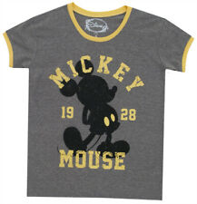 Mickey Mouse Varisty 1928 Disney Character Mighty Fine Juniors Ringer T-Shirt