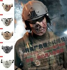 Tactical Military Zombie Skull Skeleton Face Mask Hunting Costume Halloween Fun