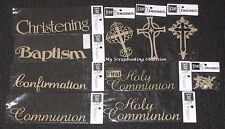 SCRAP FX Chipboard Wordlets 'RELIGIOUS CEREMONIES' (Choose from 10) Cross