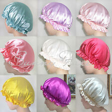 Soft Silk Sleeping Cap Sleep Hat Night Hair Care Bonnet 7 Colors to Pick Comfort