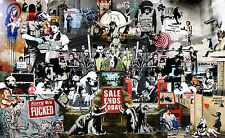 Banksy Collage Giant Poster - A0 A1 A2 A3 A4 Sizes