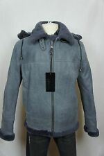 Men 100% Shearling Leather Sheepskin Flight Aviator Bomber B3 Coat Jacket S-6XL