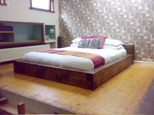 Chunky Wood Single Double King Super Bed Frame