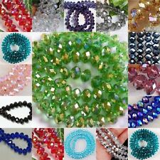 Free Ship Faceted Crystal Rondele Charm Jewelry Handcraft Beads DIY Supply 4 6 8