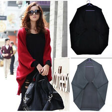 New Women Bats Oversized Open-Front Shawl Casual Cardigan Sweater Coat TOP