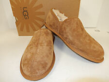 NEW UGG AUSTRALIA SCUFF ROMEO 5650 CHESTNUT SUEDE LEATHER UPPER HOUSE SLIPPERS