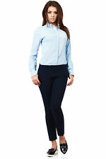 Navy blue Smart tailored ladies trousers ideal for work or school   Size 8-16