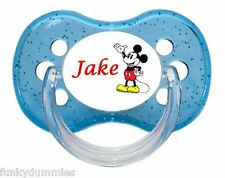 PERSONALISED  DUMMY PACIFIER SOOTHER, ALL TEATS,SIZES & COLOURS, MOUSE