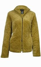 Sutton Studio Women's Double Zip Quilted Velour Jacket
