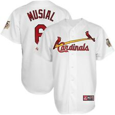 2014 Stan Musial St Louis Cardinals Home White Jersey w/ HOF 75th Patch Men's