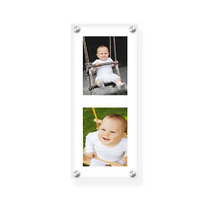 """15""""x6"""" acrylic wall holder/picture frame for your 2 photos with printing service"""