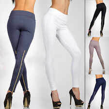 Women Winter Skinny Tight Zip Leggings Stretch Pant Slim Jeggings Pencil Trouser