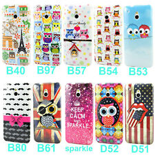 Soft Various TPU Gel Skin Pictorial Case Cover For HTC One Mini M4
