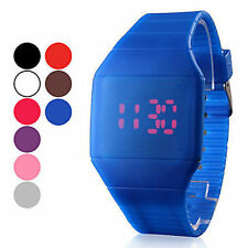 LED Digital Rubber Silicone Band Wrist Watch Men Women Boy Girl Watch Colorful Z