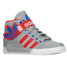 Youth Grade School Boys Adidas Hard Court 2 Sneakers New, Gray Red G99468 99468