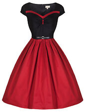 NEW LINDY BOP 'RITA' VINTAGE 50'S ROCKABILLY STYLE PINUP SWEETHEART PARTY DRESS