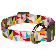 Bluberry Pet Adorable Triangles in Pastel Color Adjustable Standard Dog Collar