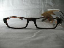 Foster Grant Harvest Brown Striped Reading Glasses w/ Case +1.25 2.00 2.50 2.75