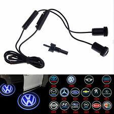 2x LED Car Door Tür Logo Licht  Projector Welcome Shadow Light For BMW AUDI VW