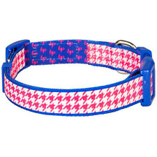 Blueberry Pet Collars For Dog Classy Houndstooth Statement Adjustable Dog Collar