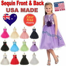 Sequin Girls Dress, Flower Girl Dress, Pageant Birthday Party Dress Size 1 to 14