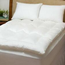 Down Filled Featherbed Mattress Topper Pad AND Down Pillows Twin Full Queen King