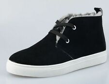 Mens snow ankle boots suede casual winter fur lined sneaker shoes plus size #8
