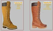 "TIMBERLAND 14"" INCH PREMIUM (3752R - WHEAT) & (3756R - DARK BROWN) WOMENS BOOTS"