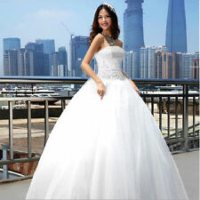 stock cheap elegant a-line Organza wedding dress size:6 8 10 12 14 16 18 20 22++