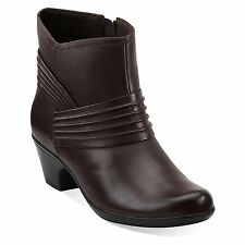 Clarks Ingalls Mood Women's Soft Premium Leather Ankle Boots Style 62747 Brown