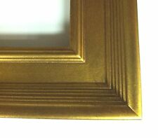 """Classic Plein Air Picture Frames Gold Flat Pannel 2 3/4"""" wide"""
