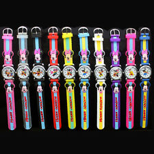 Mickey Mouse Anolog watch for child, Colorful Cartoon Band Clock Jelly Silicone