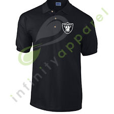 OAKLAND RAIDERS POLO T SHIRT TOP TEE SWAG FOOTBALL SPORTS NFL COLLEGE AMERICAN