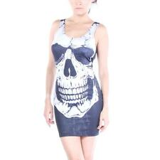 Affliction Dress Skully Black Women New