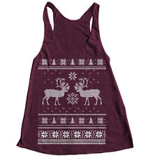 Ugly Christmas Sweater Tank Top American Apparel Racerback Screen Print Workout