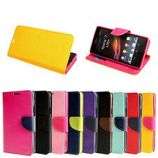 Dual-Use PU Leather Stand Flip Wallet Case Cover For Sony Smart Phones