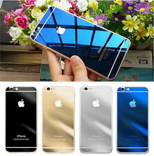 Electroplating Mirror Front Back Tempered Glass Screen Protector For iPhone 6