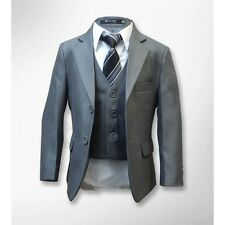 Boys 5 Piece Formal Grey Suit, Italian Design Page Boy Wedding Suits Age 1 to 15
