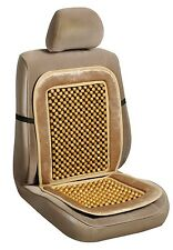 Premium Bamboo Wooden Beaded Seat Massage Cushion Office Chair Car Truck Cover