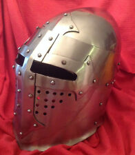 Pivoting Visored Medieval Bascinet Helm for SCA WMA Heavy Combat - Knight Helmet