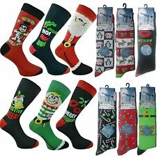 New Mens Christmas Novelty Socks Xmass  Stocking Filler Gifts  Uk 6-11 Eu  39-45