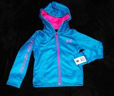 Under Armour teal blue pink hoody hoodie sweatshirt girls 4 4T  6 years $42.99