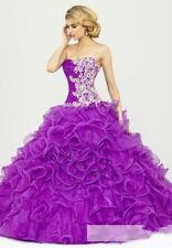 2014 New Color Accented Ball Gown Formal Prom Party Quinceanera Pageant dress