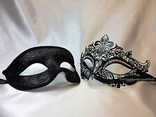 His and Hers Masquerade mask pair for couple Mardi Gras engagement wedding party