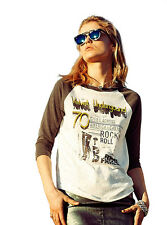 Juniors Junk Food Rock Music Fashion The Velvet Underground Raglan T-Shirt Tee